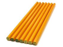 黄色地面铅笔 图库摄影