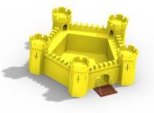 黄色城堡设计  库存图片