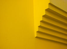 黄色墙壁详细资料 图库摄影