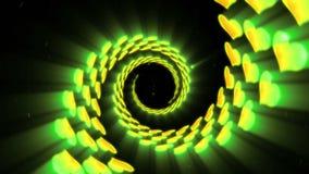 黄色心形圈动画 r r 黄色充满活力的颜色 向量例证