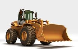黄色拖拉机 库存例证