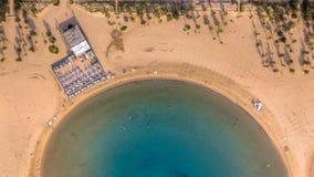 黄色海滩清早 免版税库存照片