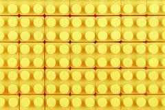 黄色玩具块 图库摄影