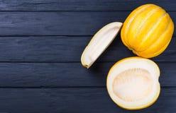 黄色甜瓜瓜 免版税库存照片