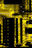 黄色电路板 库存照片