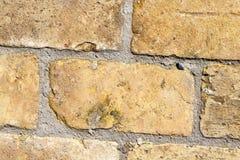 黄色砖,特写镜头 免版税库存图片