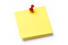 黄色稠粘的笔记 库存图片