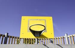 黄色篮子 免版税库存图片