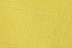 黄色织品背景纹理 纺织材料特写镜头细节  库存照片