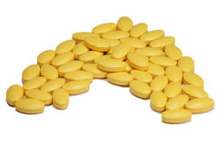 黄色维生素 库存照片