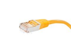 黄色网络电缆 免版税库存照片