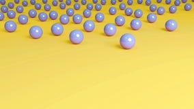 黄色背景蓝色大理石 图库摄影