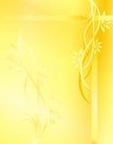 黄色背景 免版税库存图片