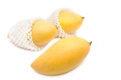 黄色芒果,泰国果子收藏页 库存照片