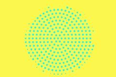 黄色蓝色半音传染媒介背景 概略的半音纹理 被集中的dotwork梯度 充满活力的被加点的中间影调 库存例证
