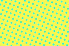 黄色蓝色半音传染媒介背景 稀稀落落的半音纹理 规则dotwork装饰品 充满活力的被加点的中间影调 库存例证