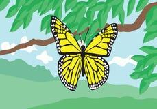 黄色蝴蝶 库存例证