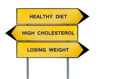 黄色街道概念健康饮食,丢失的重量,高胆固醇 库存照片