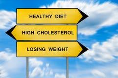 黄色街道概念健康饮食,丢失的重量,高胆固醇 库存图片
