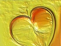 黄色被遮蔽的波浪心脏织地不很细抽象背景设计,例证 免版税库存照片