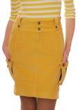 黄色裙子。 库存图片