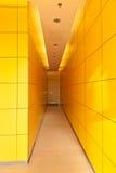 黄色走廊 库存图片