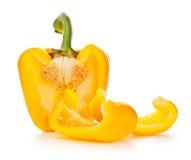 黄色辣椒粉 库存图片