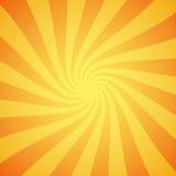 黄色难看的东西光束背景 太阳发出光线抽象墙纸 与对称线装饰品的表面样式设计 皇族释放例证