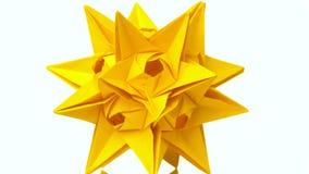 黄色颜色尖刻的origami模型  库存例证