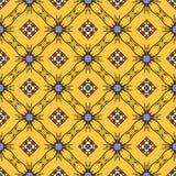 黄色颜色的抽象无缝的样式墙纸和后面的 库存照片
