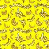 黄色香蕉的样式 向量例证