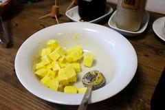 黄色黄油 库存图片