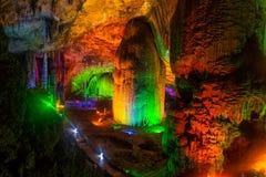 黄色龙洞,世界的洞的奇迹,张家界,中国 免版税库存照片