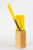 黄色Knifes 免版税图库摄影