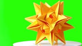 黄色origami尖刻的球博览会 影视素材