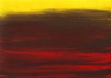黄褐色红色黑暗的背景绘画 库存图片