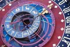 黄道带时钟在伯尔尼 免版税库存图片