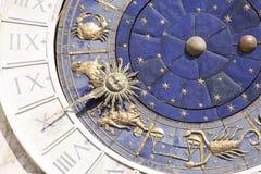 黄道带时钟在威尼斯 图库摄影