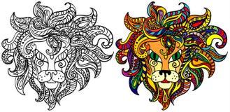 黄道带狮子的符号 向量例证