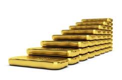 黄金价值增长 库存照片