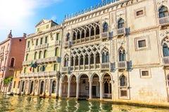 黄金宫宫殿在威尼斯,意大利大运河  库存图片