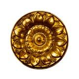 黄铜出票人花卉模式下拉式葡萄酒 库存图片