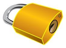 黄铜挂锁 库存照片