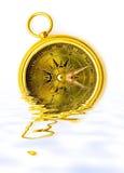 黄铜指南针老牌 免版税库存图片