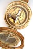 黄铜指南针 库存照片
