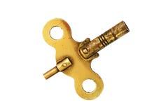 黄铜时钟关键字 免版税库存照片
