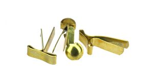 黄铜紧固件 库存图片