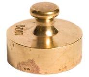 黄铜老重量 库存图片
