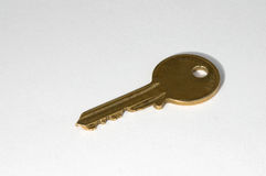 黄铜色的关键字 库存图片