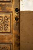 黄铜门把手 库存照片